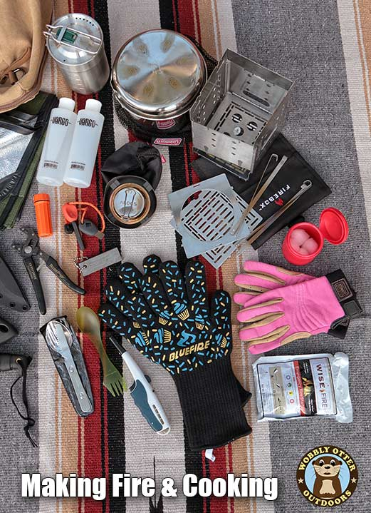 Making fire and cooking items in my bug out bag