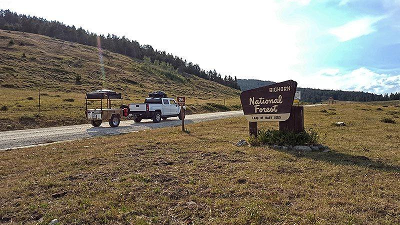 Bighorn National Forest Entrance