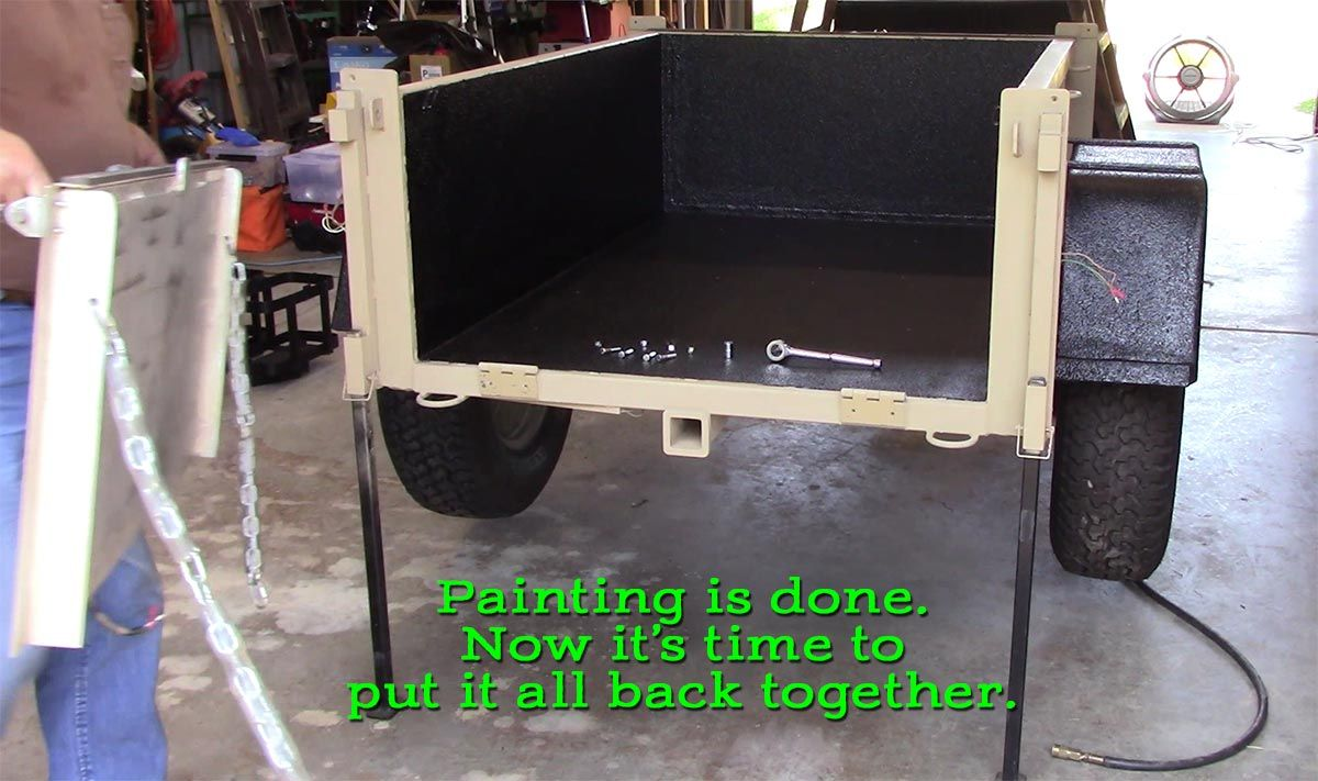 Reassembly Begins - Morris Mule Trailer Makeover