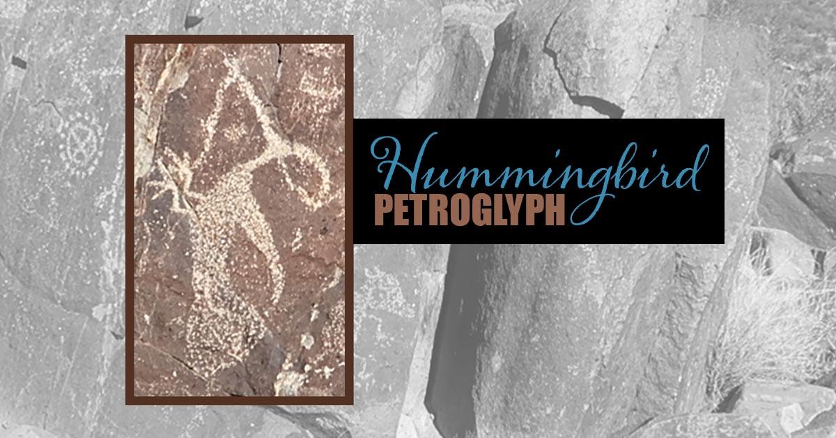 Three Rivers Petroglyphs Site - Hummingbird
