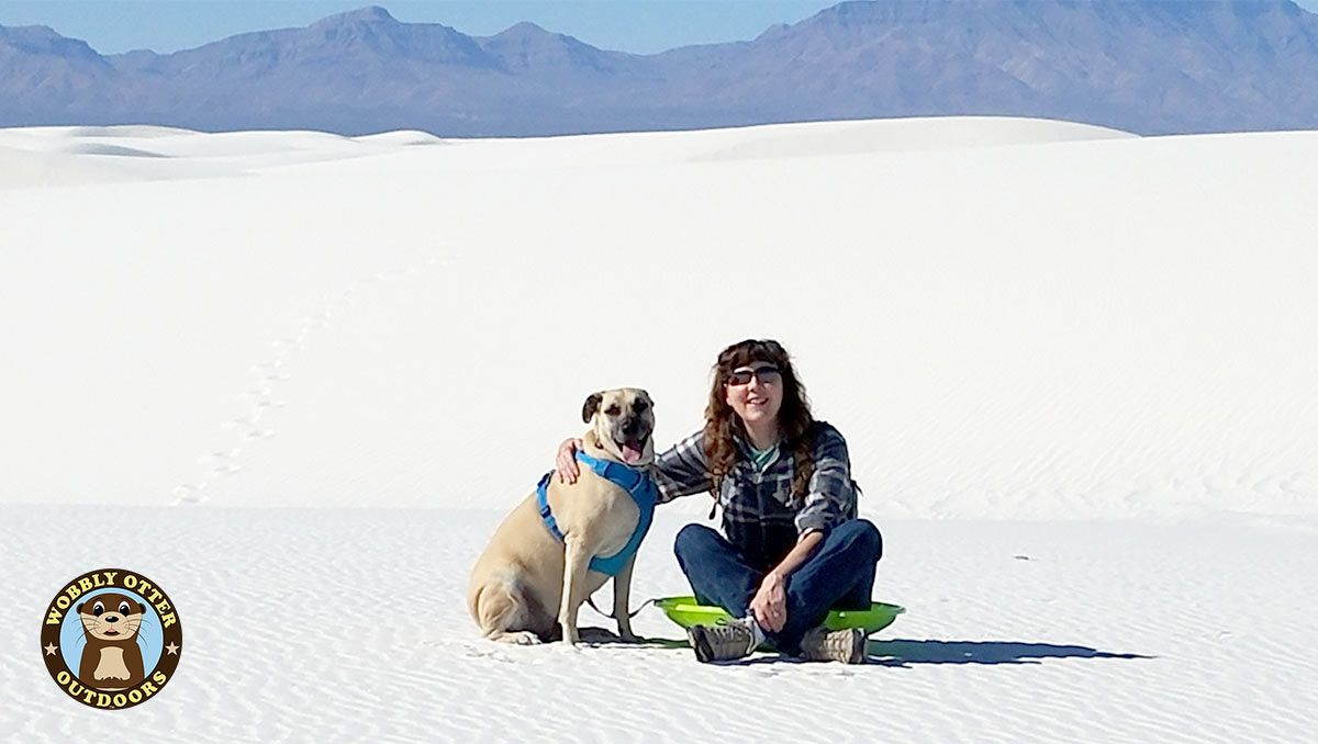 Viva and Cris at White Sands National Monument