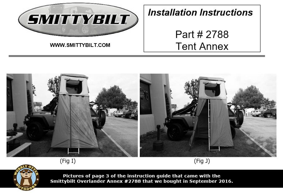 Pictures from page 3 of the Smittybilt annex installation instructions