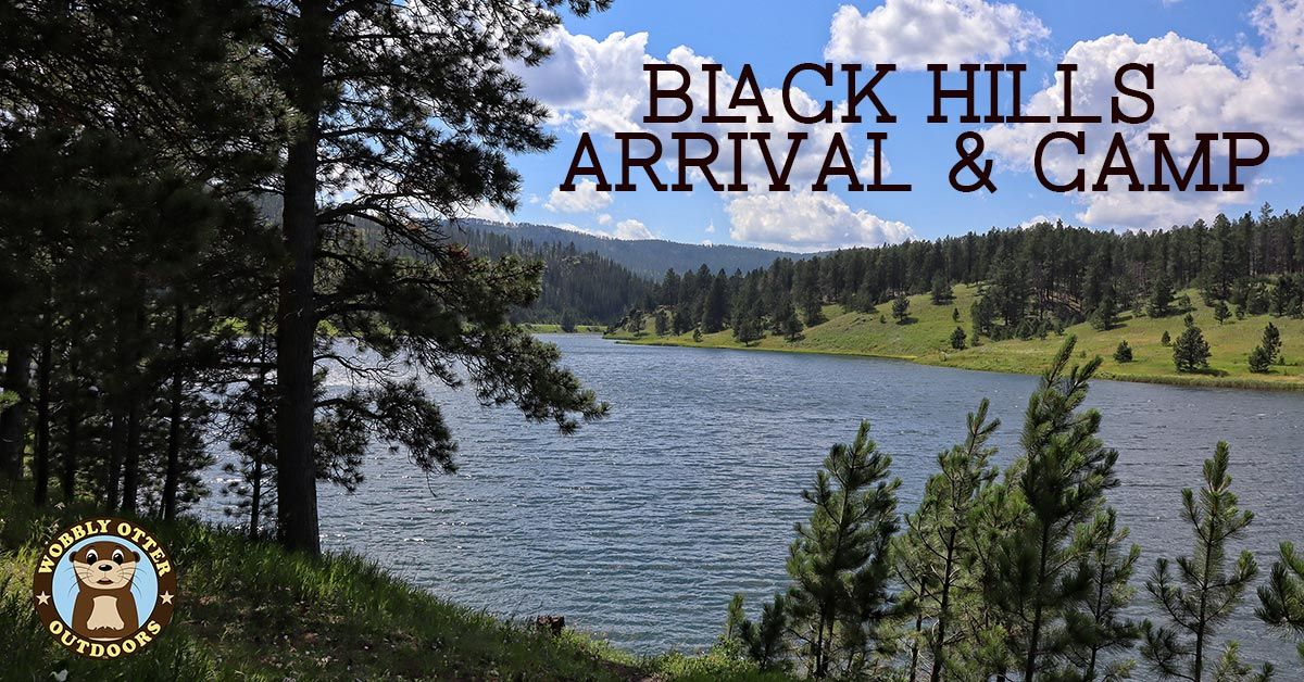 black hills arrival and camp deerfield reservoir
