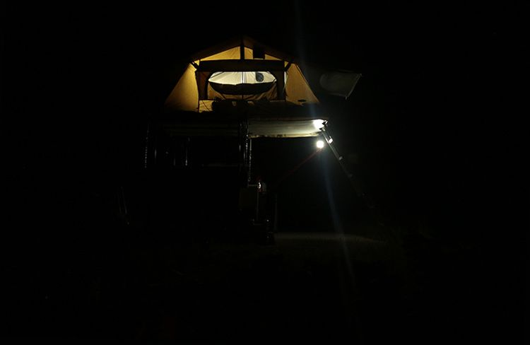 tent at night Flat Canyon CG Manti LaSal Natl Forest Utah
